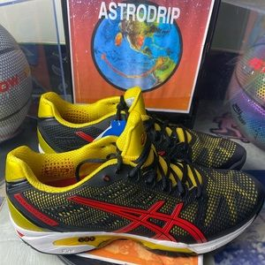 🆕 ASICS Gel Solution Speed 2 - Red/Yellow - M12.5